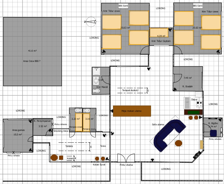 Plan on Big Brother House Floor Plan