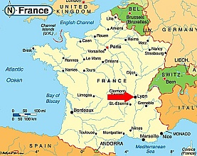 map of france lyon