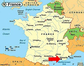 Map of france marseille Travel