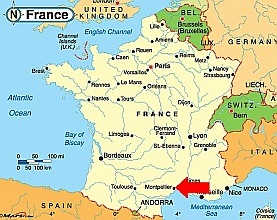Map of france montpellier » Travel