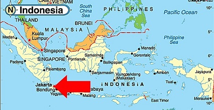Image result for map of jakarta indonesia